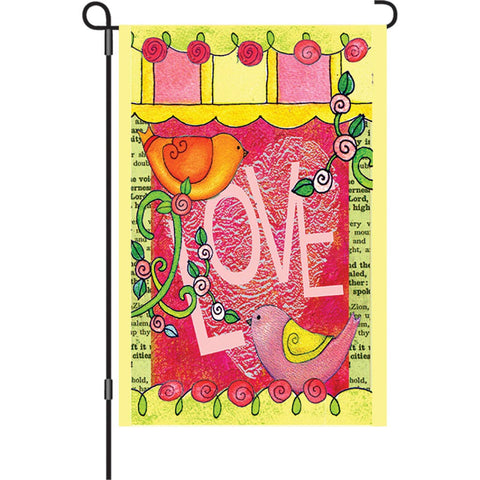 12 in. Valentine's Day Garden Flag - Love Always