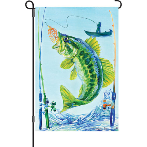 12 in. Fishing Garden Flag - Bass Fish