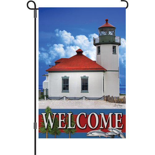 12 in. Coastal Lighthouse Garden Flag - Pacific Northwest Lighthouses