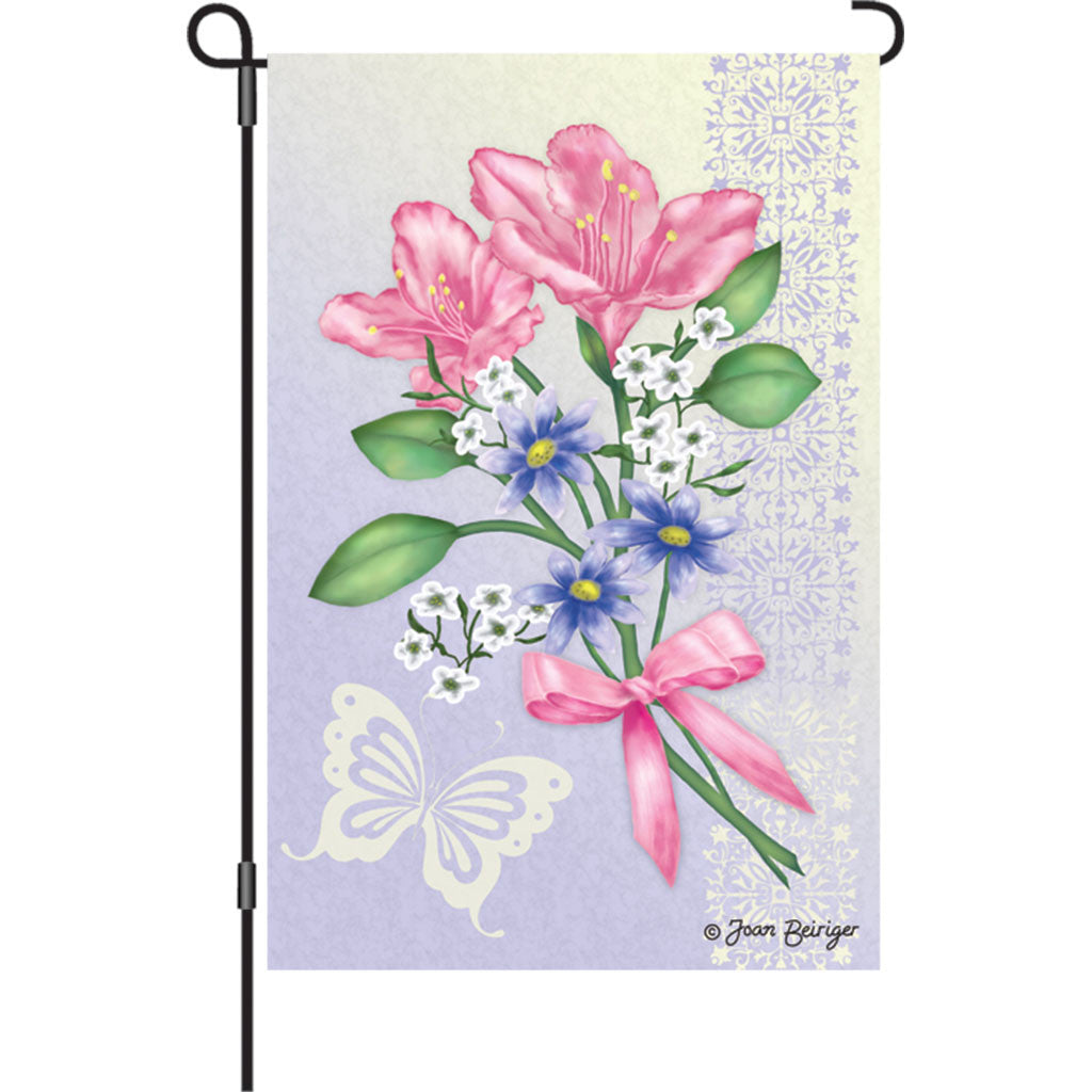 12 in. Heirloom Garden Flag - Freesia Elegance