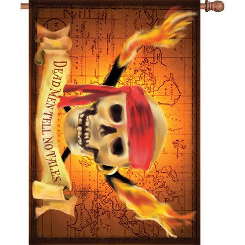 28 in. Pirate House Flag - Dead Men Tell No Tales
