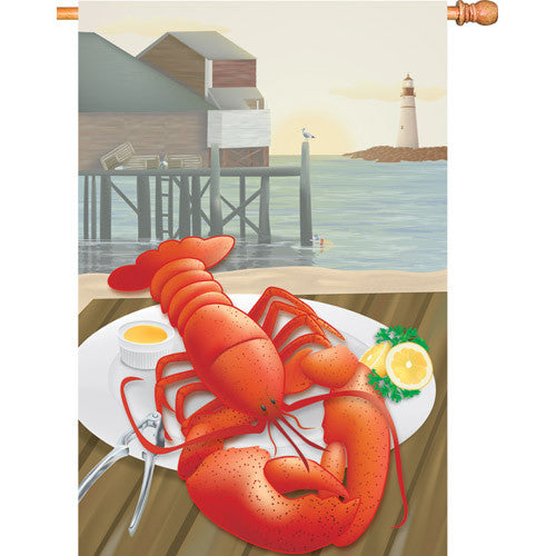 28 in. Restaurant House Flag - Lobster Catch