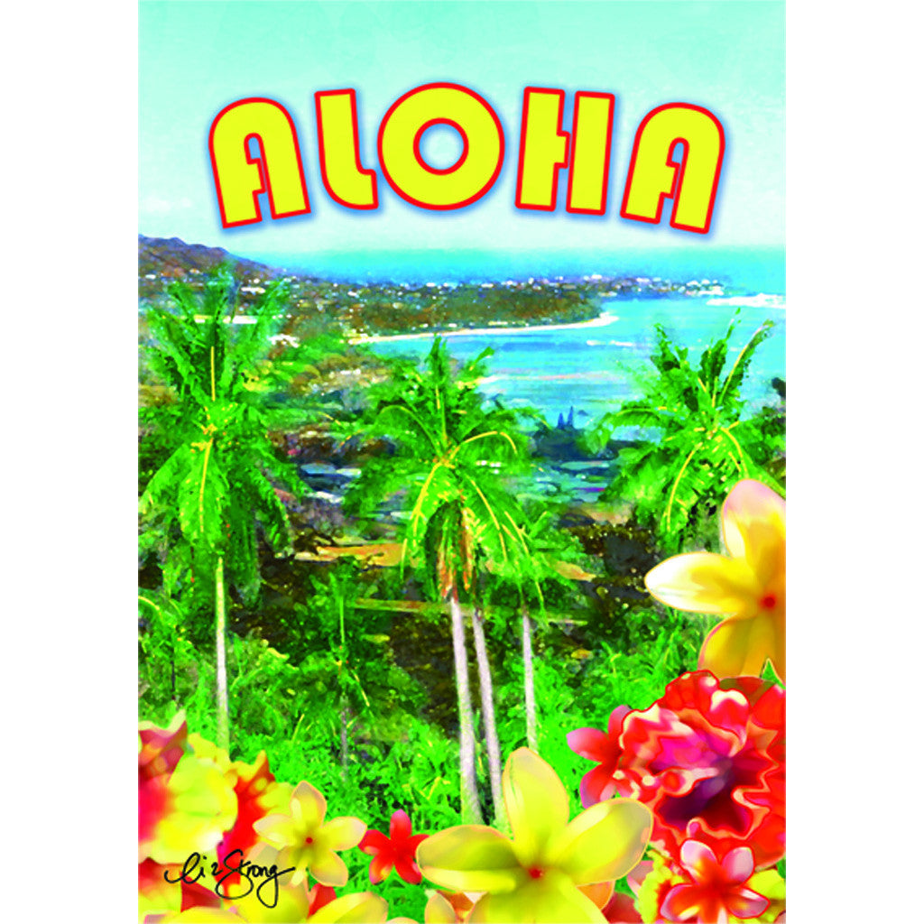12 in. Tropical Hawaiian Garden Flag - Aloha from Diamond Head