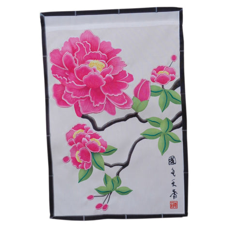 12 in. Asian Garden Flag - Imperial Peony