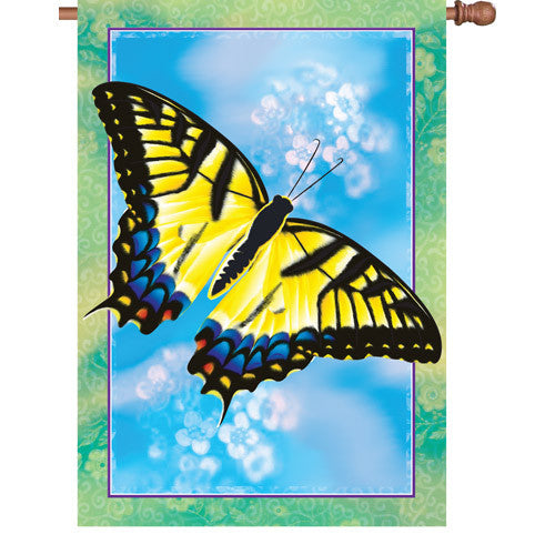 28 in. Butterfly House Flag - Swallowtail