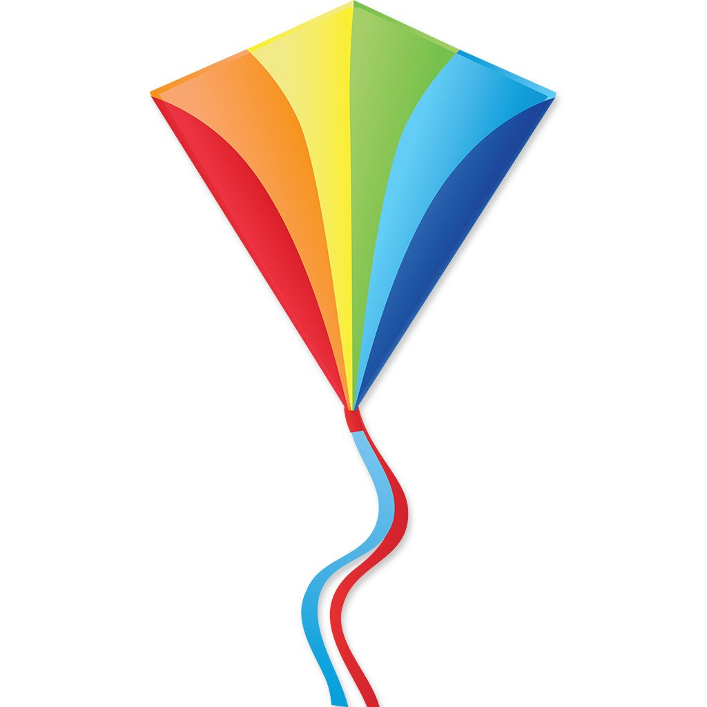 30 In. Diamond Kite - Traditional Rainbow (Bold Innovations)