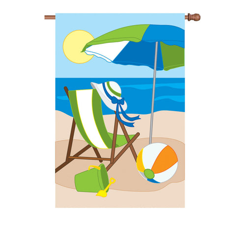 36 in. Beach Applique Flag - Leisure Moments
