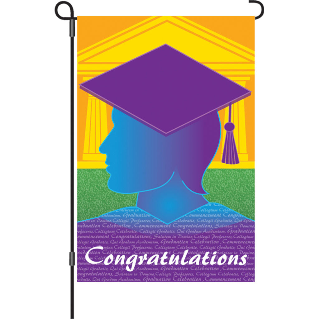 12 in. Graduation Celebration Garden Flag - The Graduate