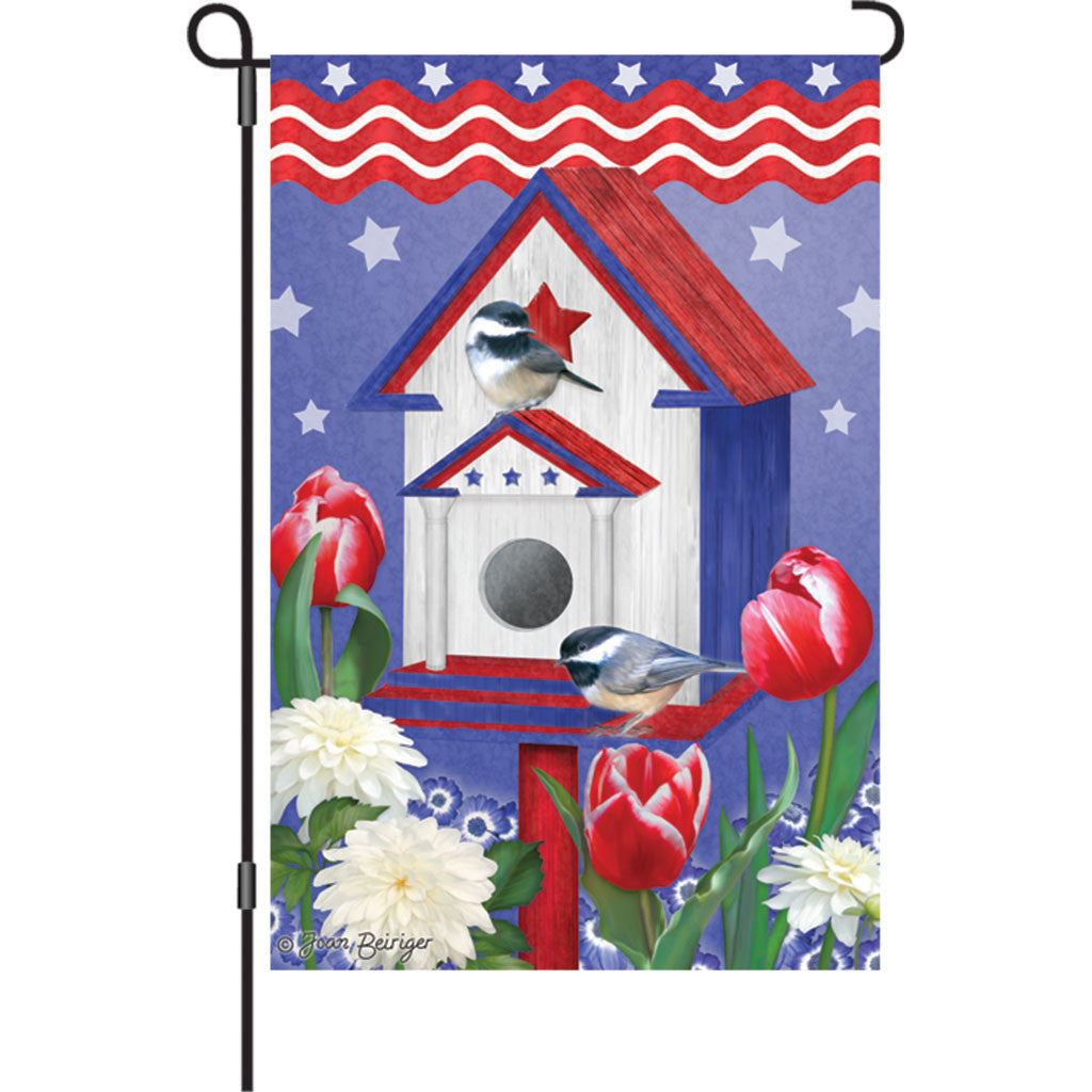 12 in. Memorial Day Garden Flag - Patriotic Birdhouses