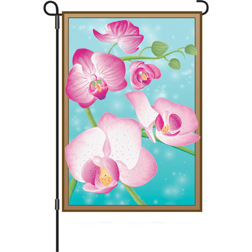 12 in. Orchid Flowers Garden Flag - Butterfly Orchids