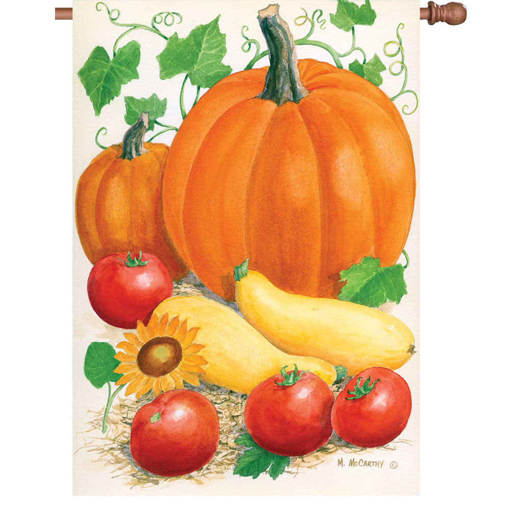 28 in. Autumn House Flag - Harvest Time