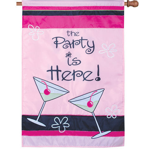 28 in. Girl's Night Party House Flag - Girl's Night In