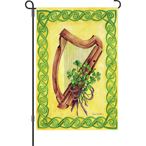 12 in. St. Patrick's Day Garden Flag - Celtic Harmony