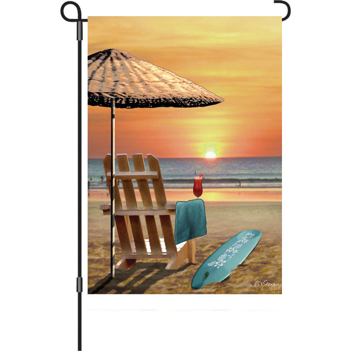 12 in. Beach Garden Flag - Bali Sunset