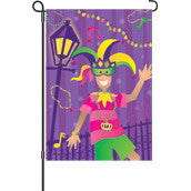 28 in. Mardi Gras House Flag - Mardi Gras Time