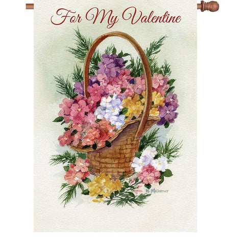 28 in. Valentine's Day House Flag - For My Valentine