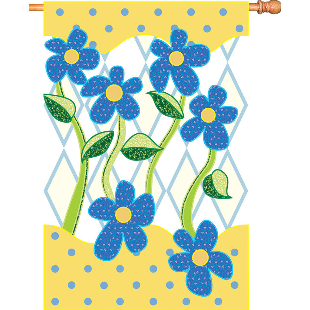 28 in. Floral House Flag - Country Flowers