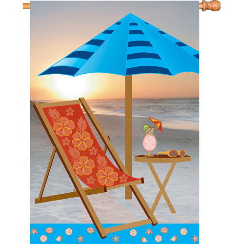28 in. Coastal Beach House Flag - Sunrise Beach