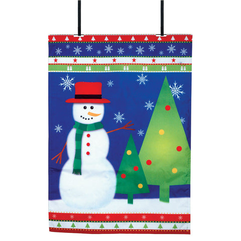 Winter Wonderland Christmas Fiber-Optic Door Flag