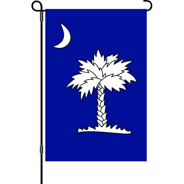 12 in. South Caraolina Garden Flag - Crescent Moon