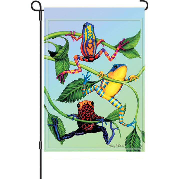 12 in. Tree Frog Garden Flag - Hanging Tree Frogs