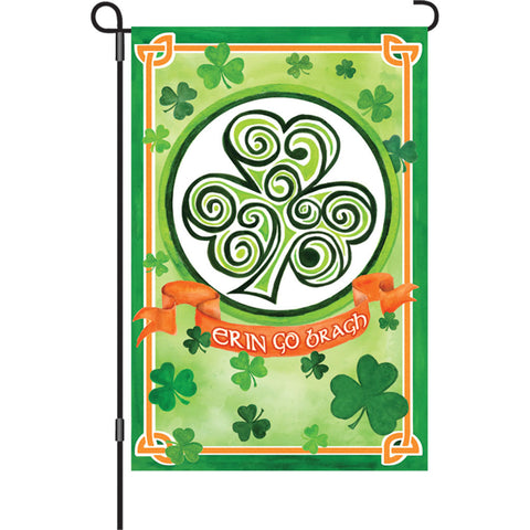 12 in. St. Patty's Day Garden Flag - Ireland Forever