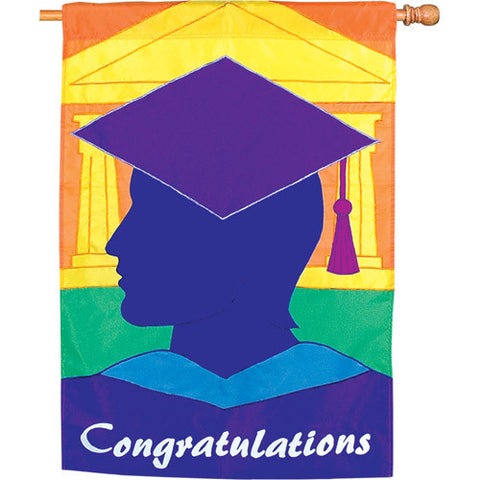 28 in. Graduation Celebration House Flag - The Graduate
