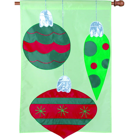 28 in. Christmas House Flag - Sparkly Decor
