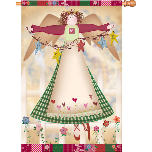 28 in. Christmas House Flag - Angelic Grace