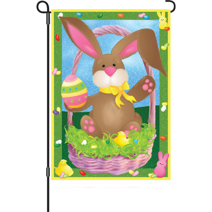 12 in. Easter Garden Flag - Bunny's Basket