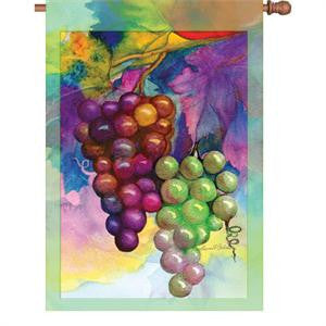 28 in. Vineyard House Flag - Colors of Autumn