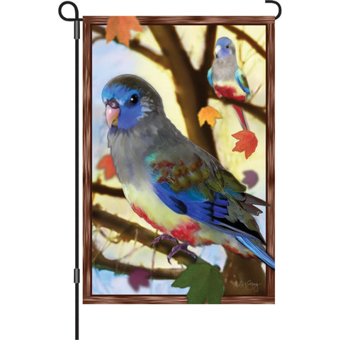 12 in. Bird Garden Flag - Autumn Blue Bonnets
