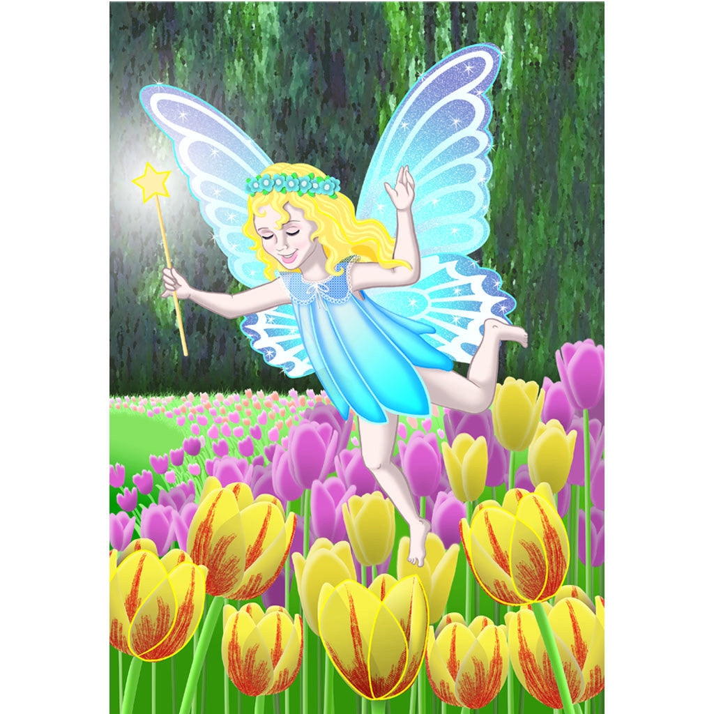 28 in. Fairy House Flag - Minuet in the Spring