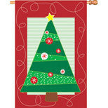 28 in. Christmas House Flag - Soho Christmas