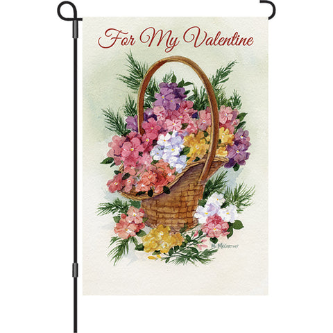 12 in. Valentine's Day Garden Flag - For My Valentine