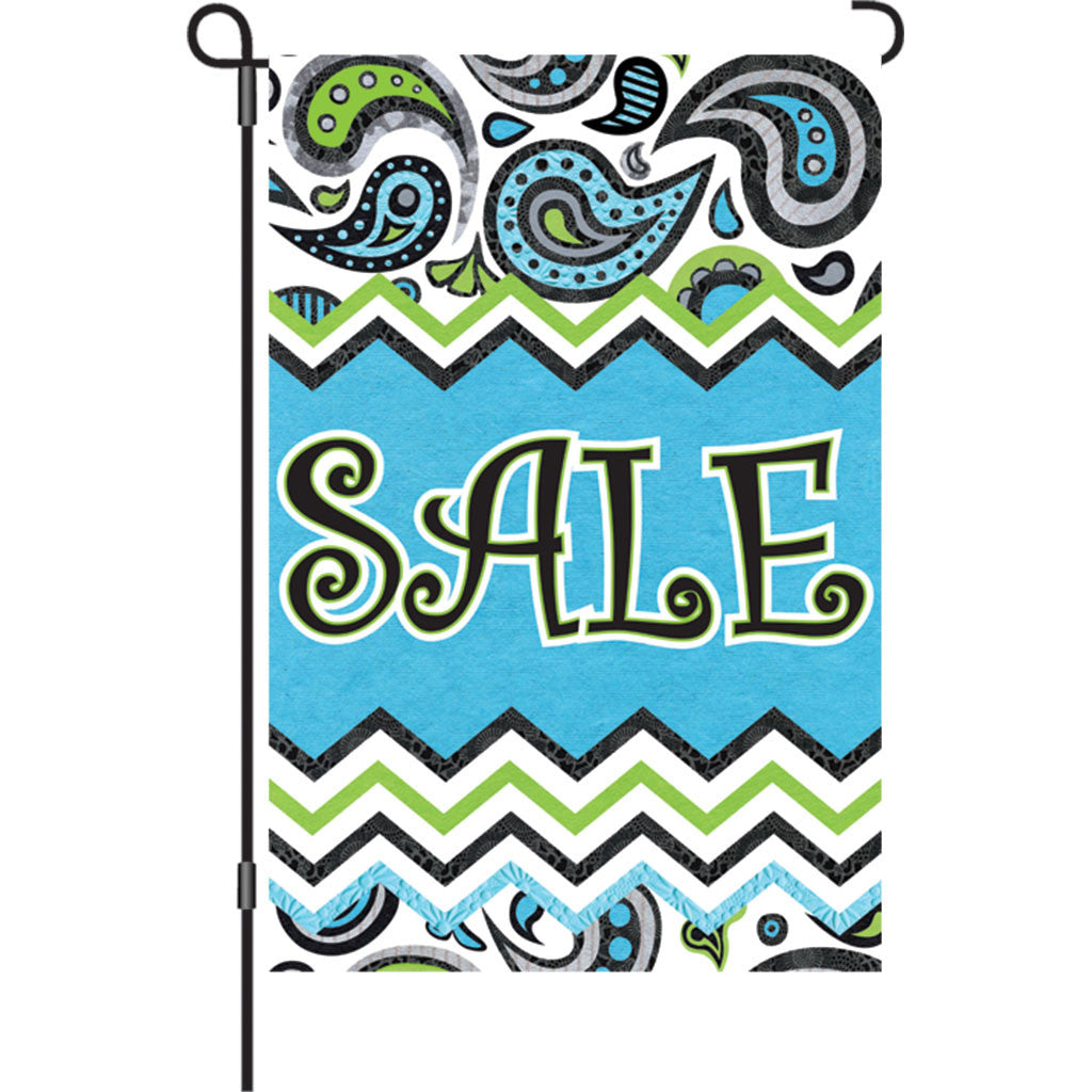 12 in. SALE Garden Flag - Paisley Design