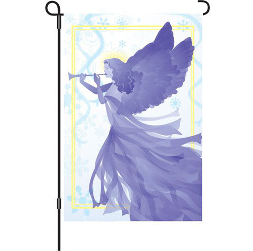 12 in. Christmas Garden Flag - Snow Angel