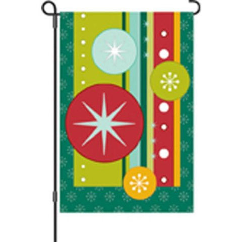 12 in. Christmas Garden Flag - Retro Christmas