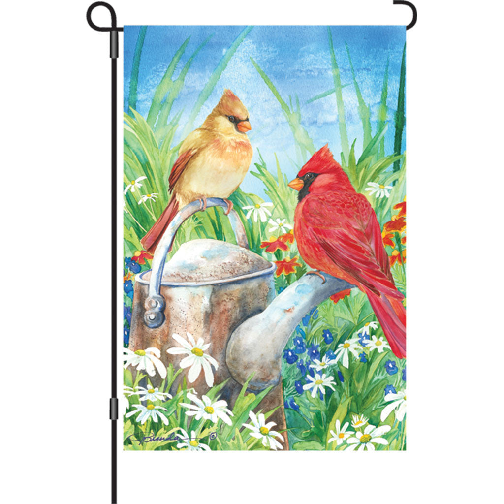 12 in. Bird Garden Flag - Summer Cardinal