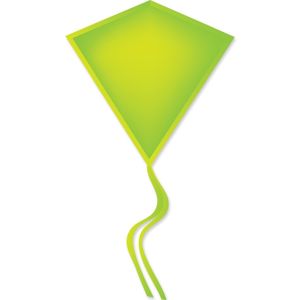 30 In. Diamond Kite - Neon Green (Bold Innovations)
