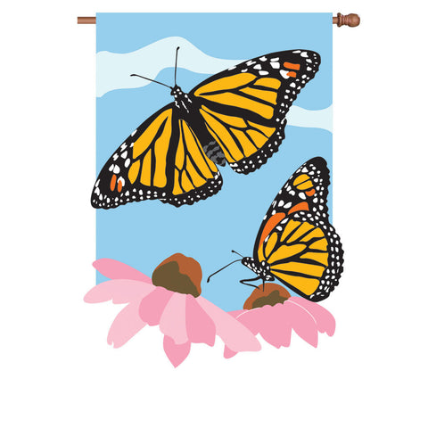 36 in. Butterfly Applique Flag - Royal Monarchs