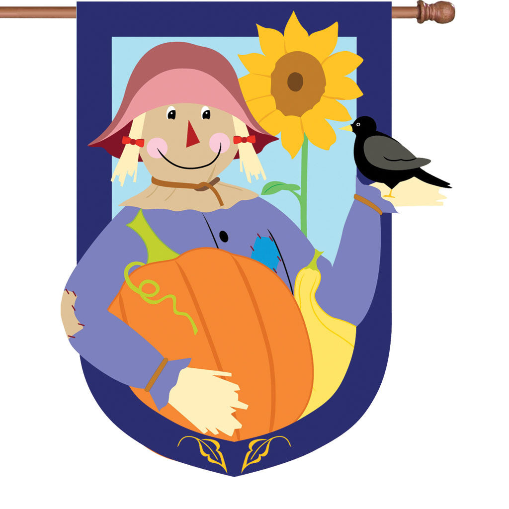 36 in. Thanksgiving Applique Flag - Harvest Friends