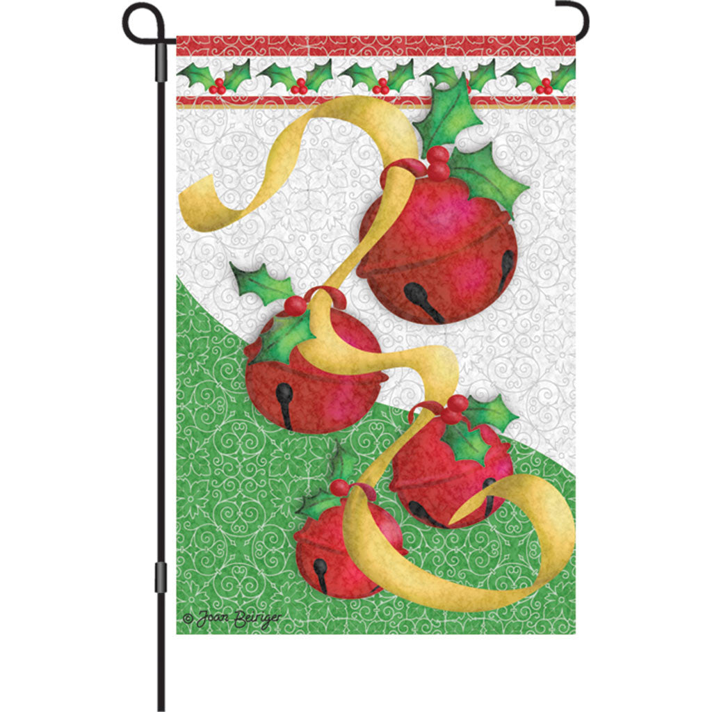 12 in. Christmas Garden Flag - Holiday Bells