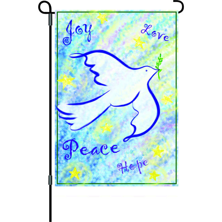 12 in. Christmas Garden Flag - Peace & Joy