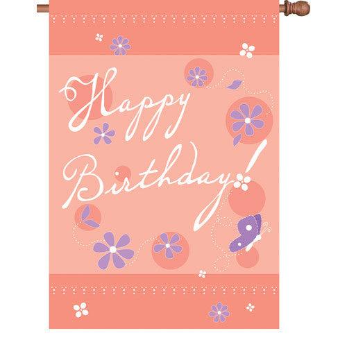 28 in. Happy Birthday House Flag - Birthday Blast
