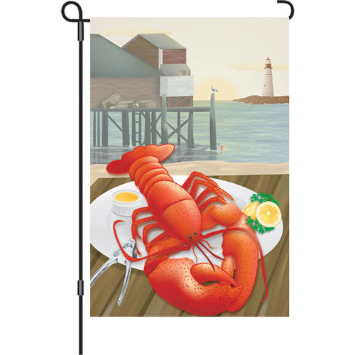12 in. Restaurant Garden Flag - Lobster Catch