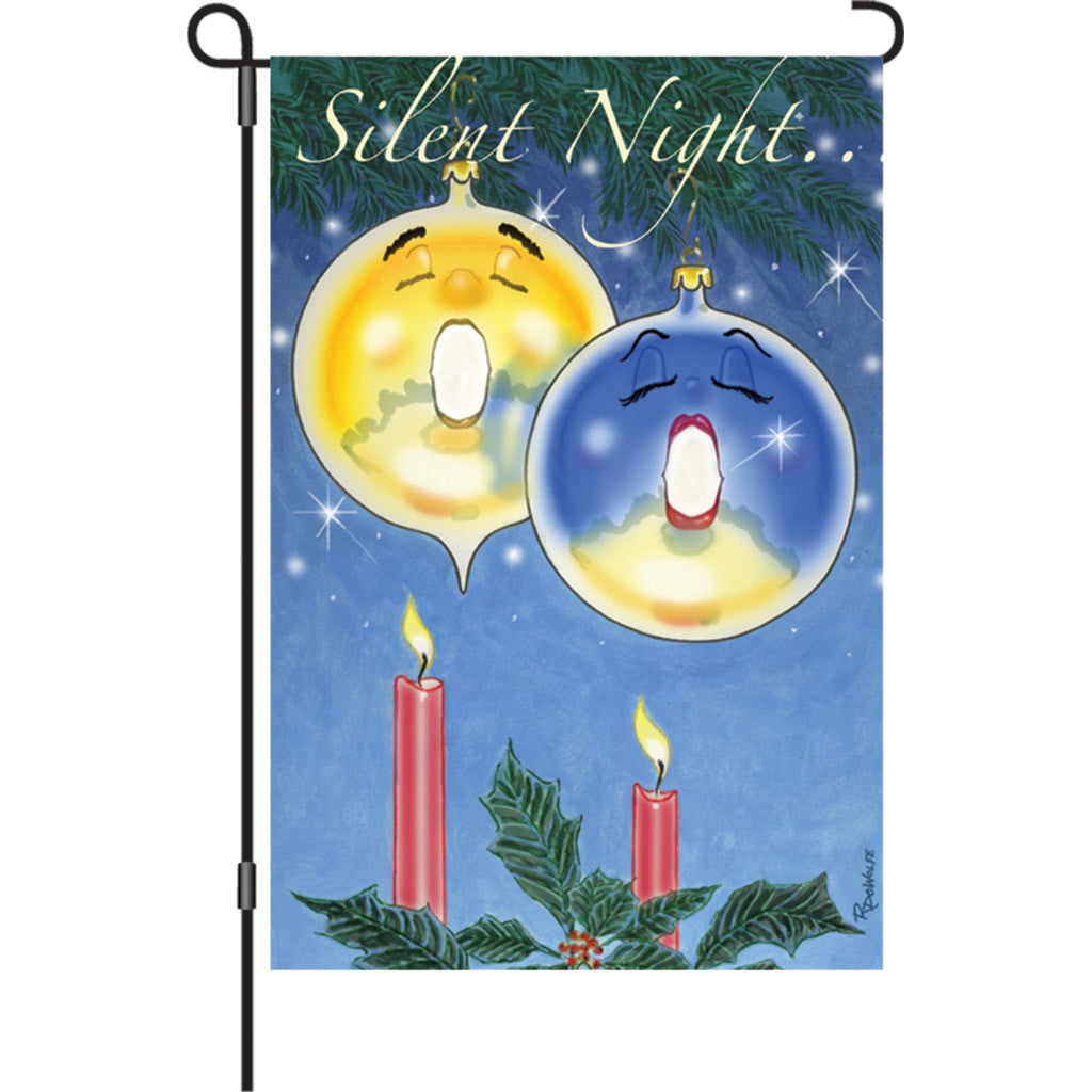 12 in. Christmas Garden Flag - Silent Night
