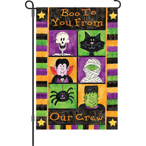 12 in. Halloween Garden Flag - Boo to You