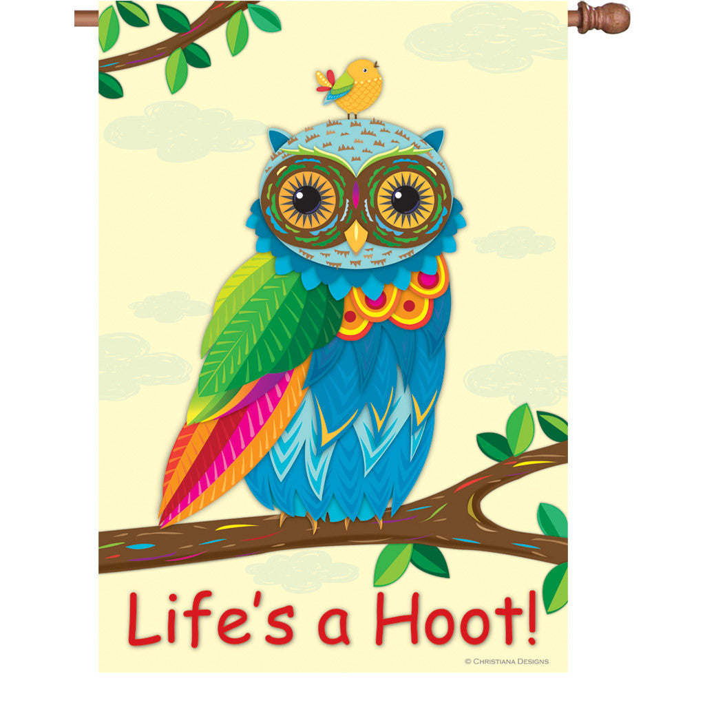 28 in. Owl House Flag - Life's a Hoot