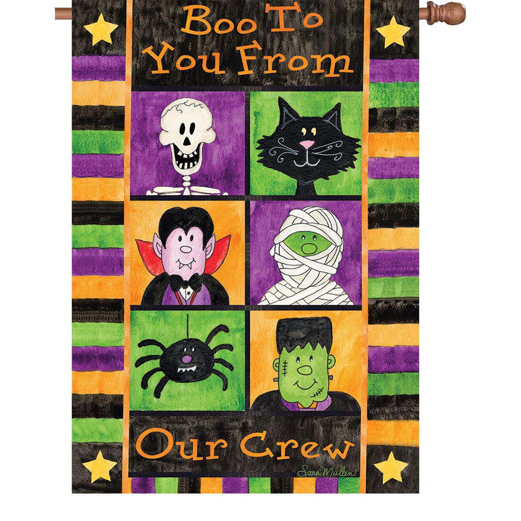 28 in. Halloween House Flag - Boo to You